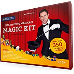 Looking for a Magic Kit for your child or grandchild? This Magic Set is perfect for kids age 5 to 14 With over 350 easy to learn Magic Tricks, this kit has enough material to put together a magic show for family and friends! Kit includes access to ou...
