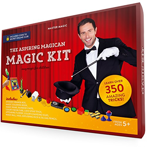 MasterMagic Magic Kit - Easy Magic Tricks for Children -...