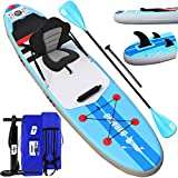Stand up paddle Gonflable SUP Board Stand Up Paddle Board, siège kayak sport nautique, accessoire complet 2020, 305 x 76 x 15 cm, jusqu'à 110 kg