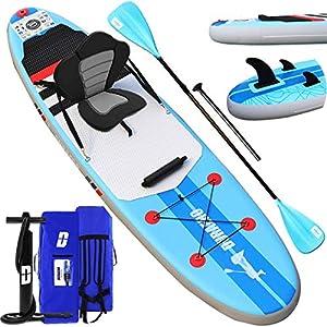 immagine di Tavola da SUP Stand Up Paddle Board Gonfiabile, Tavola da surf, sedile kayak, accessori completi, 305 x 76 x 15 cm, fino a 110 kg