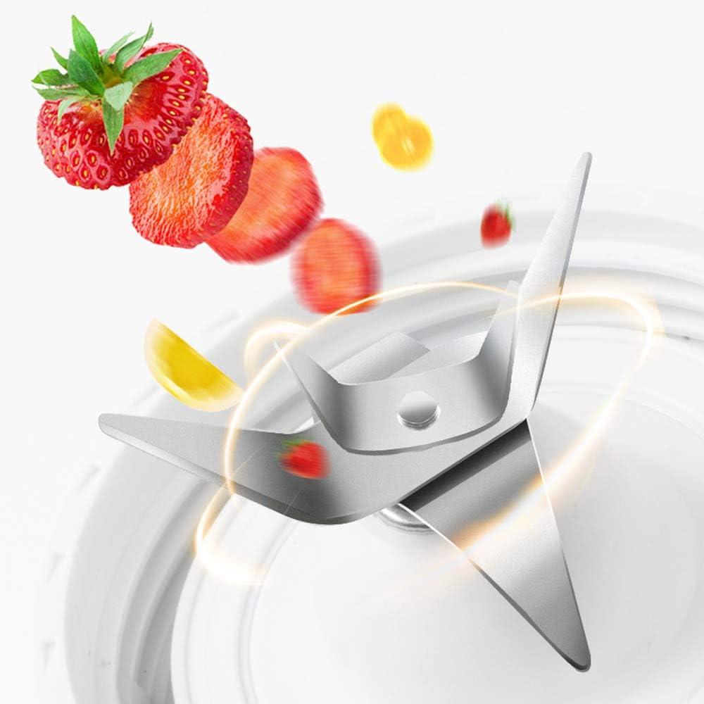 Mini Exprimidor De Alimentos Portátil Exprimidor Multifuncional Taza Exprimidor Automática Trituradora De Hielo Recargable USB con 6 Cuchillas De Acero Inoxidable Negro