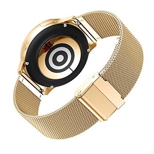 Angersi Correa Compatible con Samsung Galaxy Watch Active 2 40mm(44mm) Correa de Reloj,Acero Inoxidable Sport Correa Reemplazo Pulsera para Samsung Galaxy Watch3 41mm