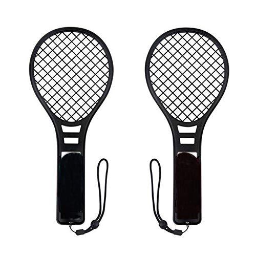 Delleu 1 Paire de Raquettes de Tennis pour Switch, contrôleur de Jeu Somatosensory Joy Con Grip Tennis Raquettes pour Mario Tennis ACES