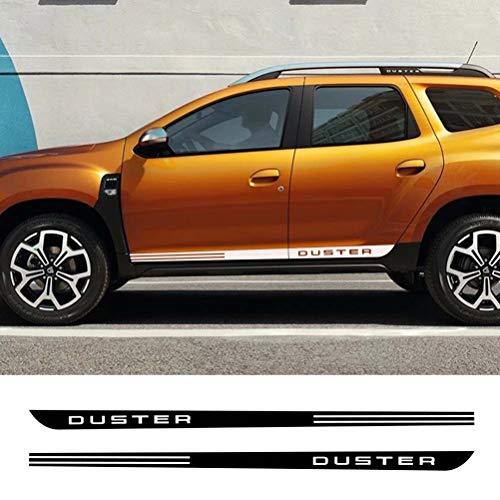 2 pièces voiture côté porte bande autocollant Auto Sport style décalcomanie vinyle Film Automobile voiture Tuning accessoires pour Dacia Renault Duster