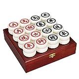 Juego de ajedrez chino, tablero de ajedrez de madera plegable, piezas de ajedrez acrílicas, letras láser, textura superficial transparente, juegos de mesa, juguetes educativos, ajedrez para adultos