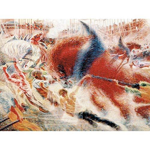 Umberto Boccioni The City Rises 1910 Painting Unframed Wall Art Print Poster Home Decor Premium