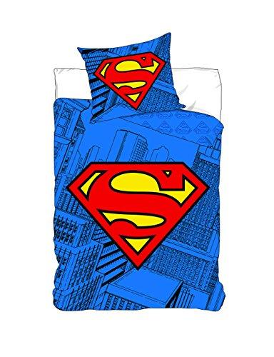 SUPERMAN Parure couette bleu