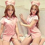 Gdofkh Uniforme Sexy tentación Uniforme de Enfermera Sexy Uniforme de Hotel Uniforme de Enfermera lencería Sexy
