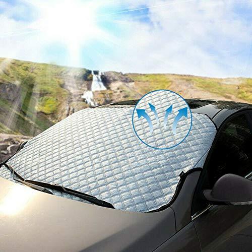 Lovejoy Store Auto-Windschutzscheibe, Eisschnee, Auto-Windschutzscheibe, Sonnenschutz, Magnet, UV-Schutz, Schnee, Frost, Sonnenschutz, für Fahrzeuge Limousine, SUV, Minivan, 190x126cm
