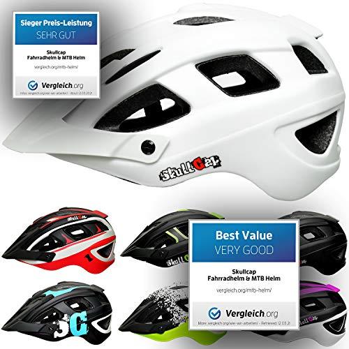 Skullcap® Fahrradhelm & MTB Helm Bike + Visier für Frauen & Damen Weiß, M (55-58 cm)