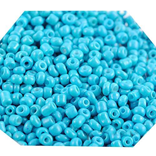 Lot de 1200 perles de 2 mm - Pour la création de bijoux, les cheveux, les bricolages, les macramés, ABS, bleu ciel, Taille M