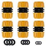 Y iRAN Reparator Schlauchverbinder 6 Stück, 1/2 ''Zoll Hose Quick Connector, Gartenschlauch Einfacher und schneller Anschluss oder Reparaturschlauch