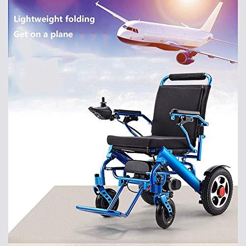Y-L elektrische rolstoel aluminiumlegering licht eenknops klapprofiel stoel schokdemper veer elektromagnetische rem kan in vliegtuig gehandicapte oudere rolstoel