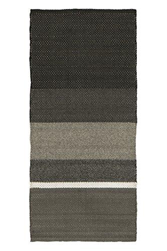 Jute & Co. Malibu tapijt voor binnen en buiten, polypropyleen, grijs, 180 x 55 x 0,6 cm