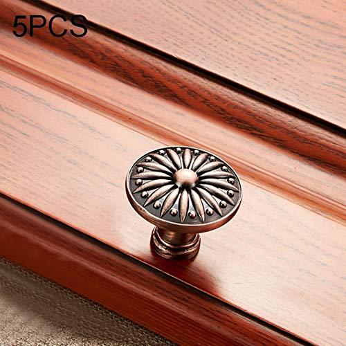 Hmg 5 PCS 6077 Massivholz-Möbel Schrank Griff Red Bronze Griffe