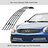 APS Compatible with 03-07 Infiniti G35 Coupe Lower Bumper Billet Grille Insert N19-A30656N