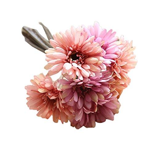 Coloré(TM) Roses de cristal Artificielle Faux Fleurs Feuille Magnolia Floral Bouquet De Mariage Party Home Decor (H)