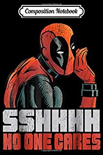 Composition Notebook: Deadpool SSHHHH No One Cares Whisper Graphic Journal/Notebook Blank Lined Ruled 6x9 100 Pages