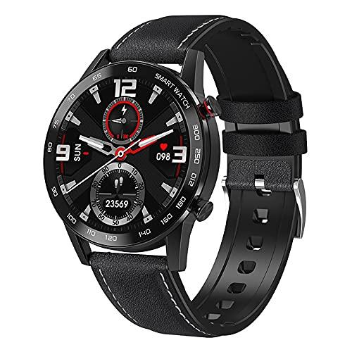 XYQC Reloj Inteligente para Hombres, Mujeres, Compatible con Android iOS, para Correr, Cardio, Fitness, Reloj IP67, Reloj Deportivo a Prueba de Agua,Negro
