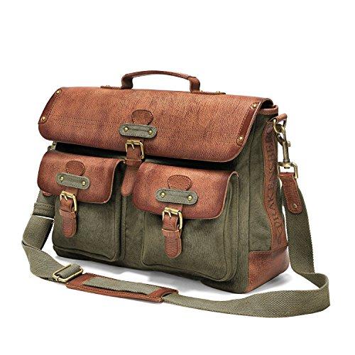 DRAKENSBERG Umhängetasche und Aktentaschen mit 15' Laptopfach, Kimberley-Messenger-Bag,...