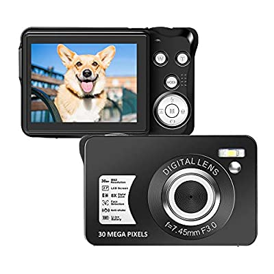 Digital Camera 2.7 Inch LCD Rechargeable HD Digital Camera Compact Camera Pocket Digital Cameras 30 Mega Pixels with 8X Zoom for Adult Seniors Students Kids by SEREE