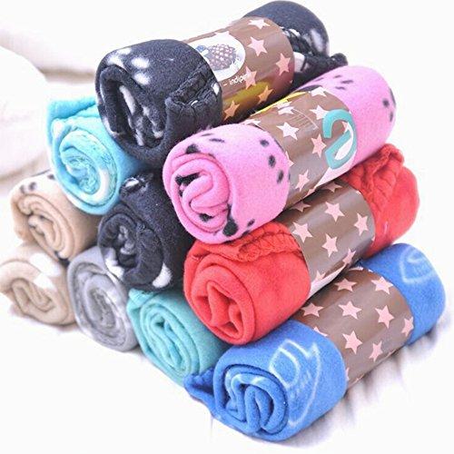 BulzEU Lote de 5Carpetas de Perro/Gato Toisón Tejido Suave y Mignon con Diseño de Huellas de Perro 60x 70cm