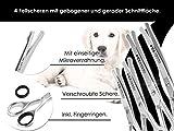 Fellschere Gerade Gebogen Hunde-Haarschere Hundescheren-Set 4-Teilig - 3