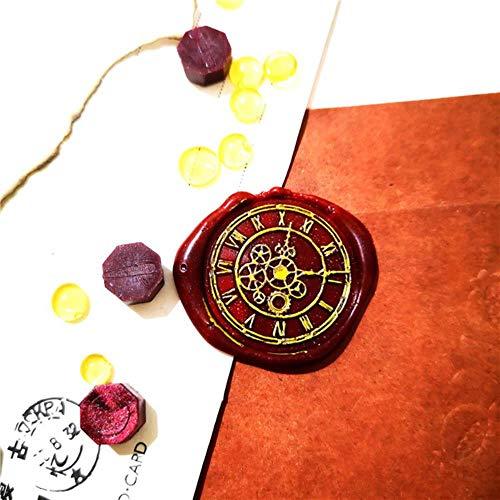 Sello de cera de reloj, cabeza de sello, sellos antiguos para scrapbooking, felices fiestas, sellos artesanales, solo cabeza de sello de 25 mm