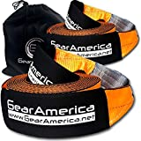 """GearAmerica Recovery 2PK Tow Straps 4"""" x 30' 