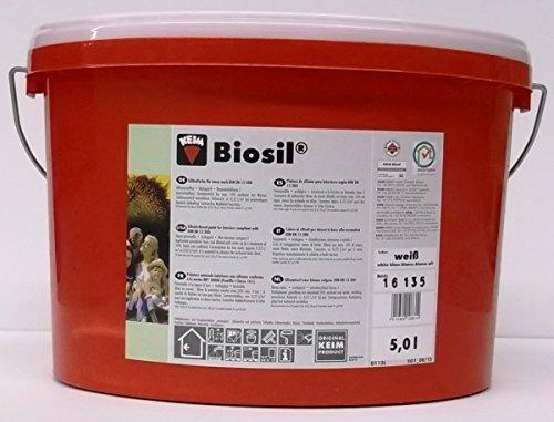 Keim Biosil Innensilikat weiß M-SK 01 Biosil Silikatfarbe Innensilikat-Farbe Wandfarbe, weiß, 5 Liter