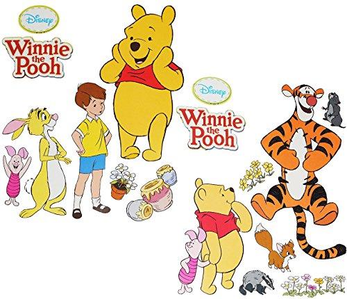 alles-meine.de GmbH 2 Stück: Wandtattoo / Sticker - Disney Winnie The Pooh Bär - für Jungen Mädchen / Kinder - Tigger - Ferkel - Freunde Teddy - Wandsticker Aufkleber Wandaufkleb