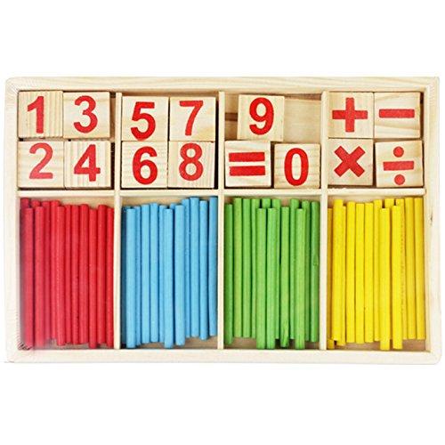 ABBY Les enfants en bois comptent le nombre de maternelle Montessori didactiques bébé début enseignant des jouets à jouets numériques