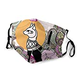Egyptian Cat Bastet Vector Image Scarf Mask Comfortable Adjustable for Women Men with 2 Filters Customized Black