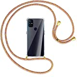 mtb more energy® Collar Smartphone para OnePlus Nord N100 (6.52'') - Rainbow/Oro - Funda Protectora...