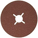 Bosch 2 608 605 466 - Disco lijador de fibra para amoladora angular, corindn (115 mm, 22 mm, 60)