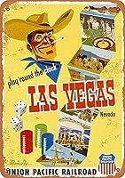 Pacific To Las Vegas 金属板ブリキ看板警告サイン注意サイン表示パネル情報サイン金属安全サイン