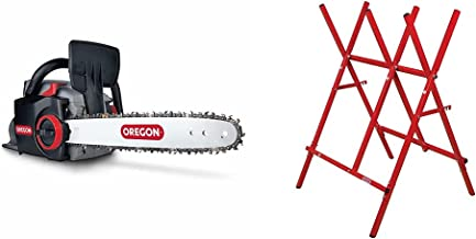 OREGON CS300 E6 Cordless Lithium Ion Battery Chainsaw, Powerful Rechargeable Saw with PowerSharp Self-Sharpening System & ...
