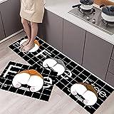 Alfombrilla de cocina alfombrilla de baño antideslizante, alfombra suave para el piso del dormitorio, alfombra de la sala de estar, alfombrilla de la puerta, alfombra de cocina NO.7 40X60cm y 40X120cm