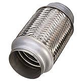 Tubo flexible de escape de acero inoxidable para silenciador, 63 x 153 mm, de Asdomo