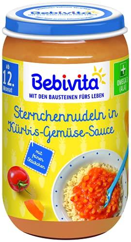 Bebivita Menüs ab 12. Monat Sternchennudeln in Kürbis-Gemüse-Sauce, 250 g