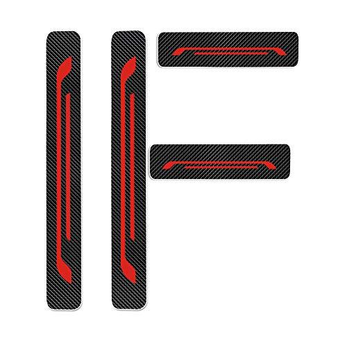 Einstiegsleiste Schutz Aufkleber Reflektierende Lackschutzfolie für MII Lbiza5/SC/ST/CUPPA Toledo Ateca Leon/5/SC/ST/Cuppa/Puertas/Eperience Alhambra Einstiegsleisten Rot 4 Stück