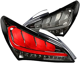 For Hyundai Genesis Coupe 2Dr Full LED Smoke Sequential Tail lights Brake Lamps