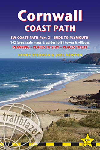 Cornwall Coast Path, South West Coast Path Part 2: Bude to Plymouth with 142 Large-Scale Walking Maps & Guides to 81 Towns & Villages (Trailblazer British Walking Guide) (British Walking Guides)