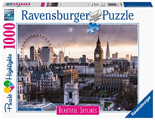 Ravensburger Puzzle Puzzle 1000 Pezzi, Londra, Puzzle per Adulti, Collezione Skylines, Puzzle Città, Puzzle Londra, Puzzle Ravensburger - Stampa di Alta Qualità