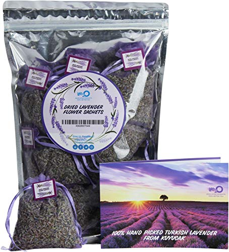 Lavender Sachet Bags, Smell of The Orient   Exquisite Home Fresh Scents: Larger Flower Buds, Longer Life and More Potent   Bundle of 10 Large Pouches   Potpourri, Clothes, Closet, Drawers & More