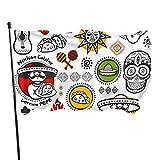 Bandera de jardín, símbolos de salsa mexicana, colores vivos y resistente a la decoloración de rayos UV, bandera de patio con doble costura, bandera de temporada, banderas de pared, 150 x 90 cm