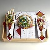 結納-結納セット 略式- 桜桃(ゆすら)セット(毛せん・風呂敷付) 結納屋さん.com n3601-01