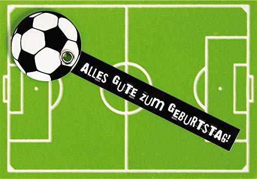Geburtstagskarte Lifestyle - Fussball - 11,6 x 16,6 cm