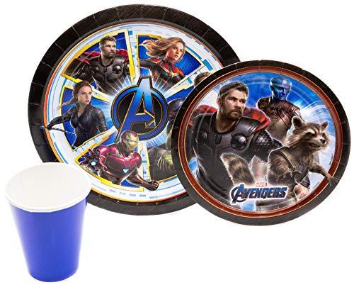 Stephanie Imports Geschirrpaket! Pappteller, servietten und -Becher zum Einmalgebrauch (für 16) Avengers: Endgame