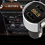 Vokmon Transmisor FM Bluetooth C26S Encendedor de automóvil Dual USB Lighter Puertos de Bluetooth del Coche 3.4a Cargador de Coche modulador de FM Reproductor MP3